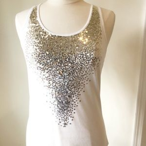 NWT Gold Sequin Tank